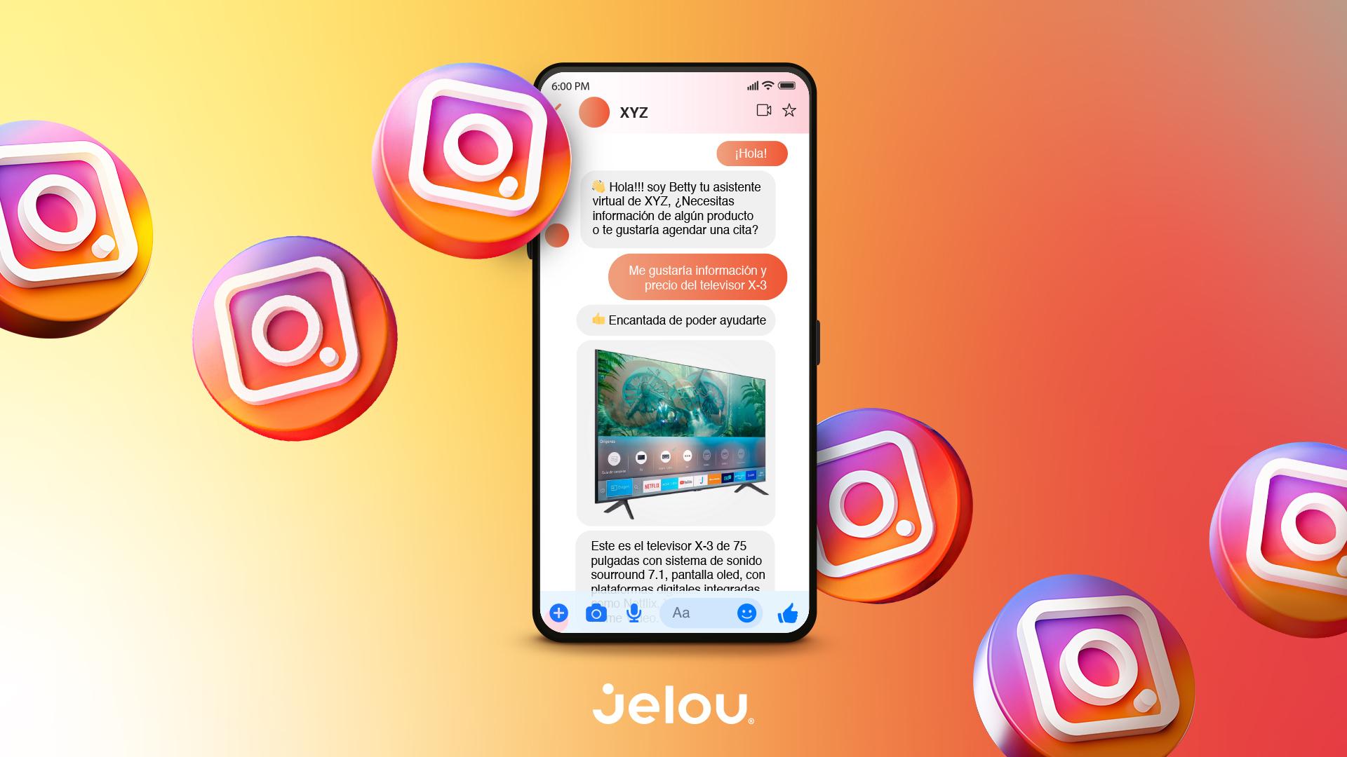 Jelou integra API Messenger para Instagram